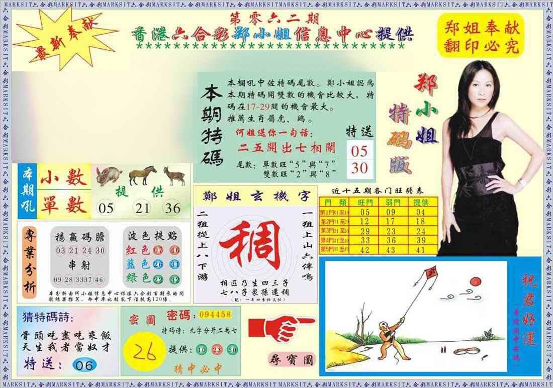 062期郑小姐特码报A