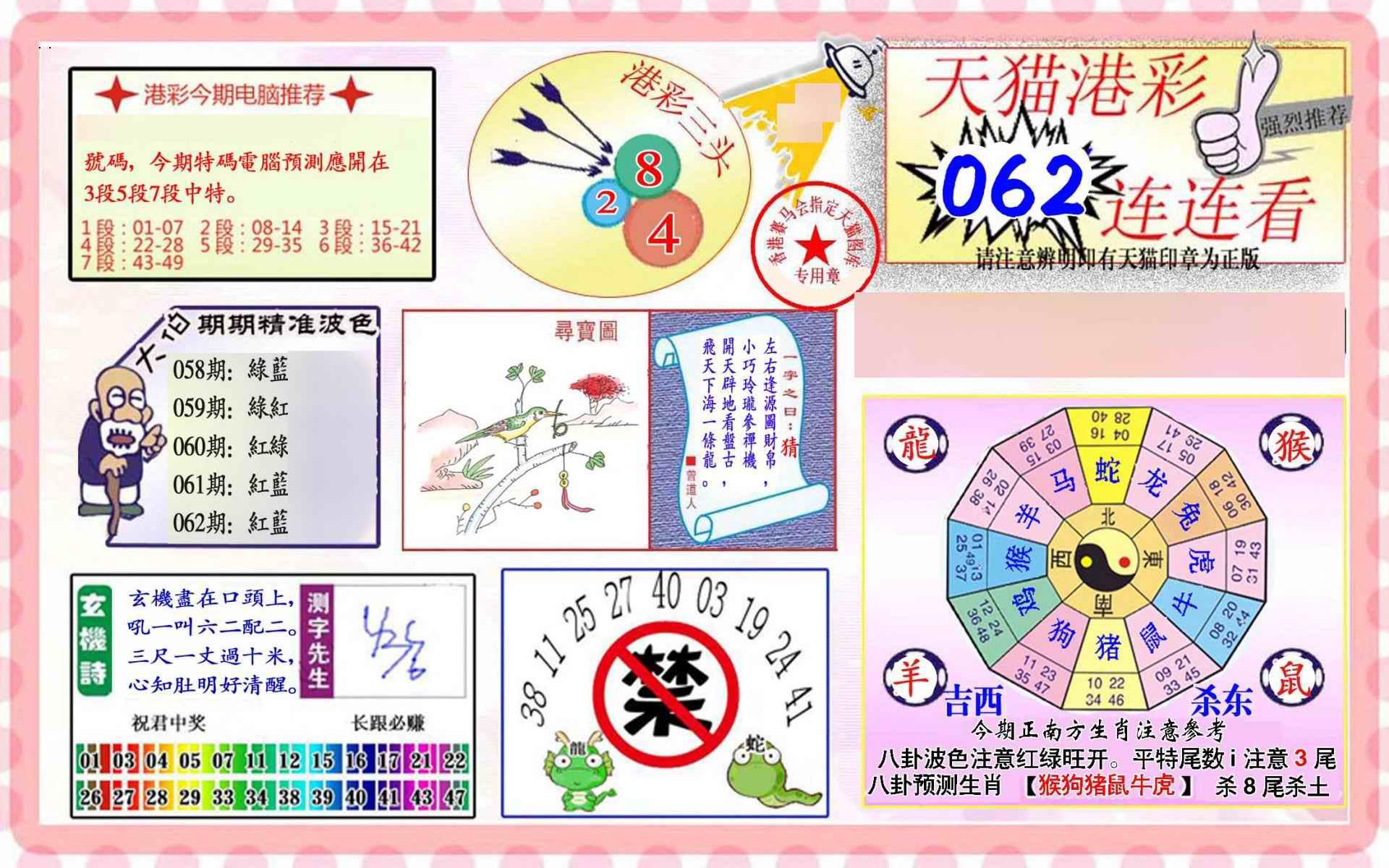 062期港彩连连中