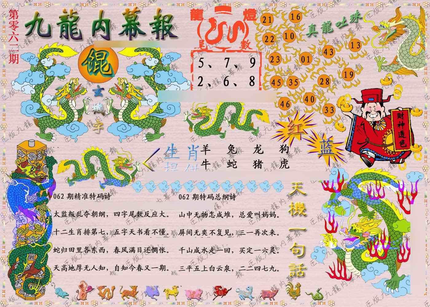 062期正版九龙内幕报