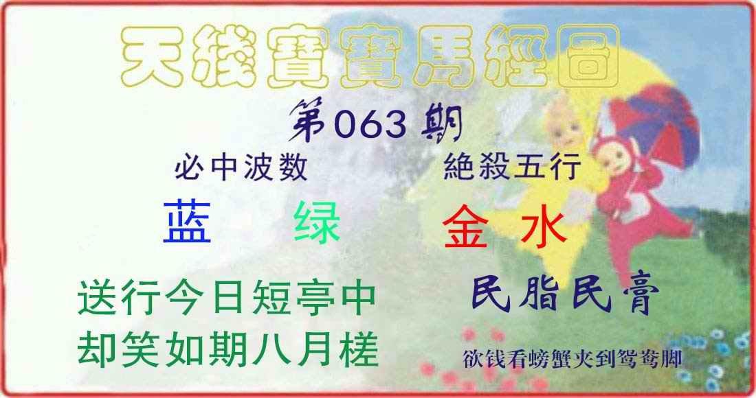 063期天线宝宝马经图