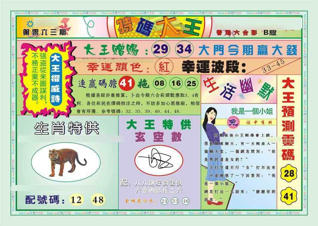 063期特码大王B(新图)
