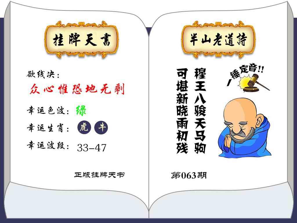 063期挂牌天书(新图)