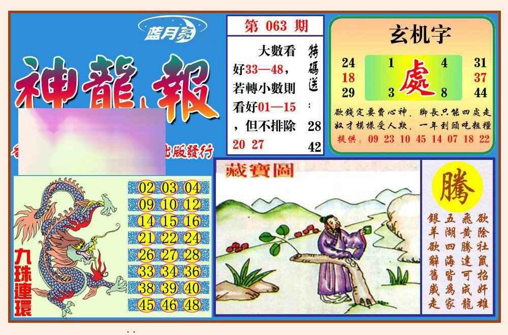 063期神龙报(新图)