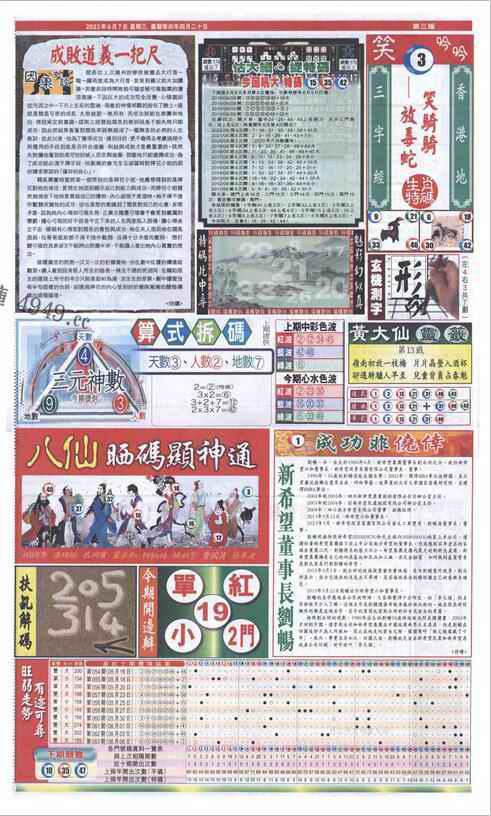 064期新报跑狗-2(背面)