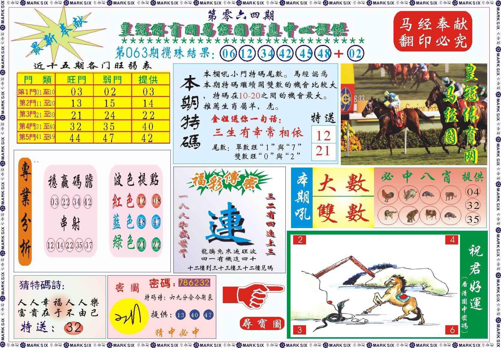 064期皇冠体育网马经图记录