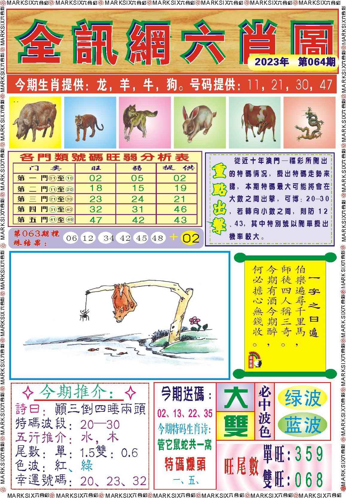 064期全讯网六肖图记录