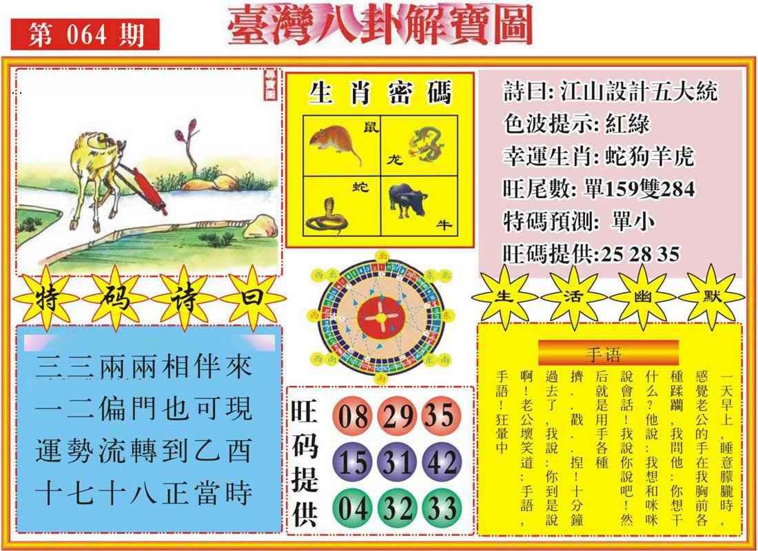 064期台湾八卦解宝图