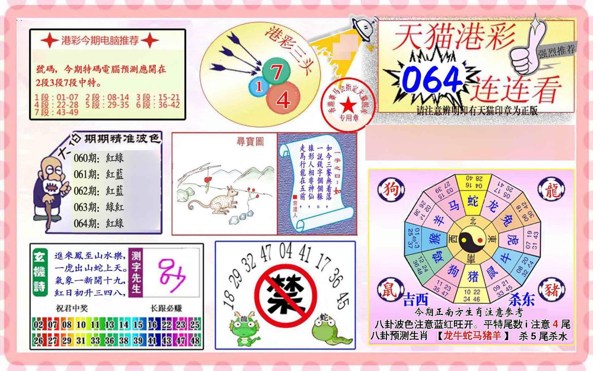 064期港彩连连中