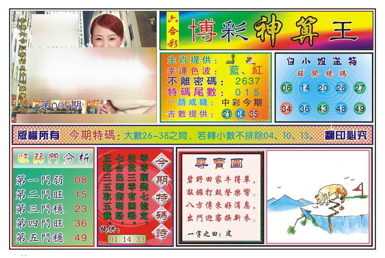 065期博彩神算王(新图)