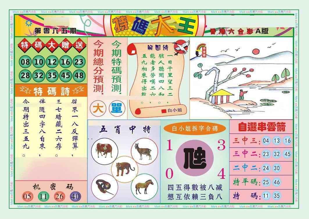 065期特码大王A(新图)