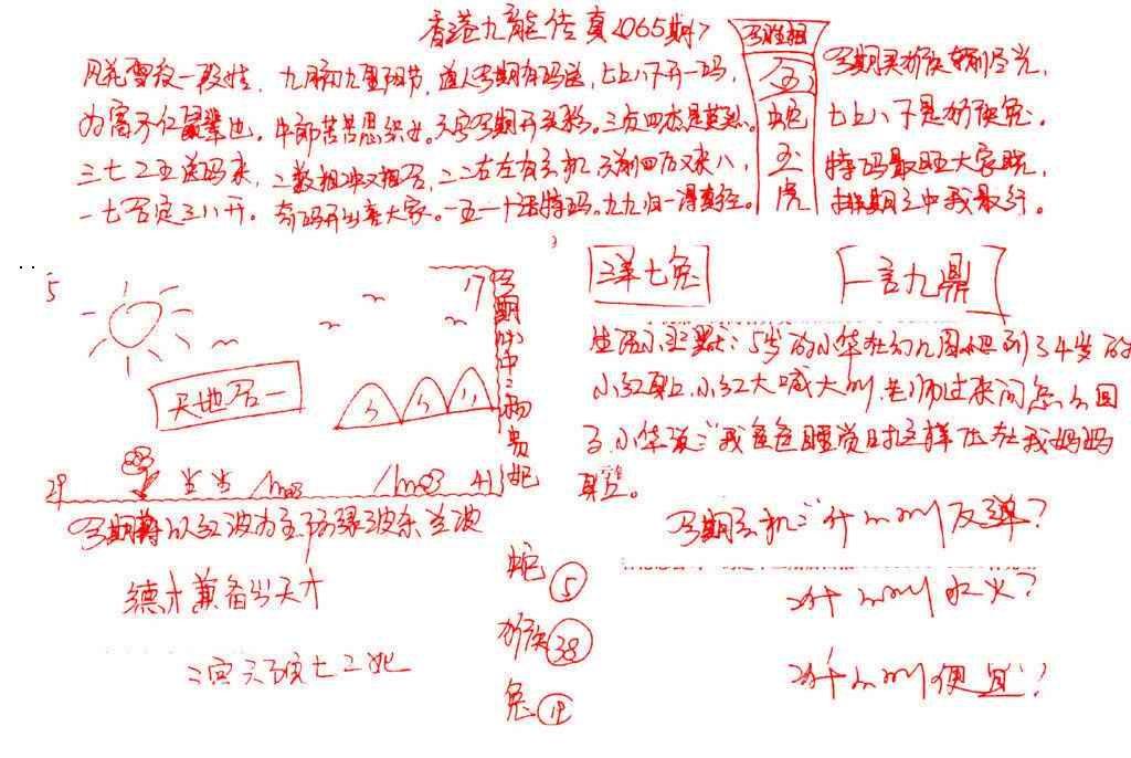 065期九龙传真(手写)