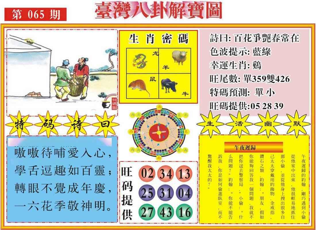 065期台湾八卦解宝图