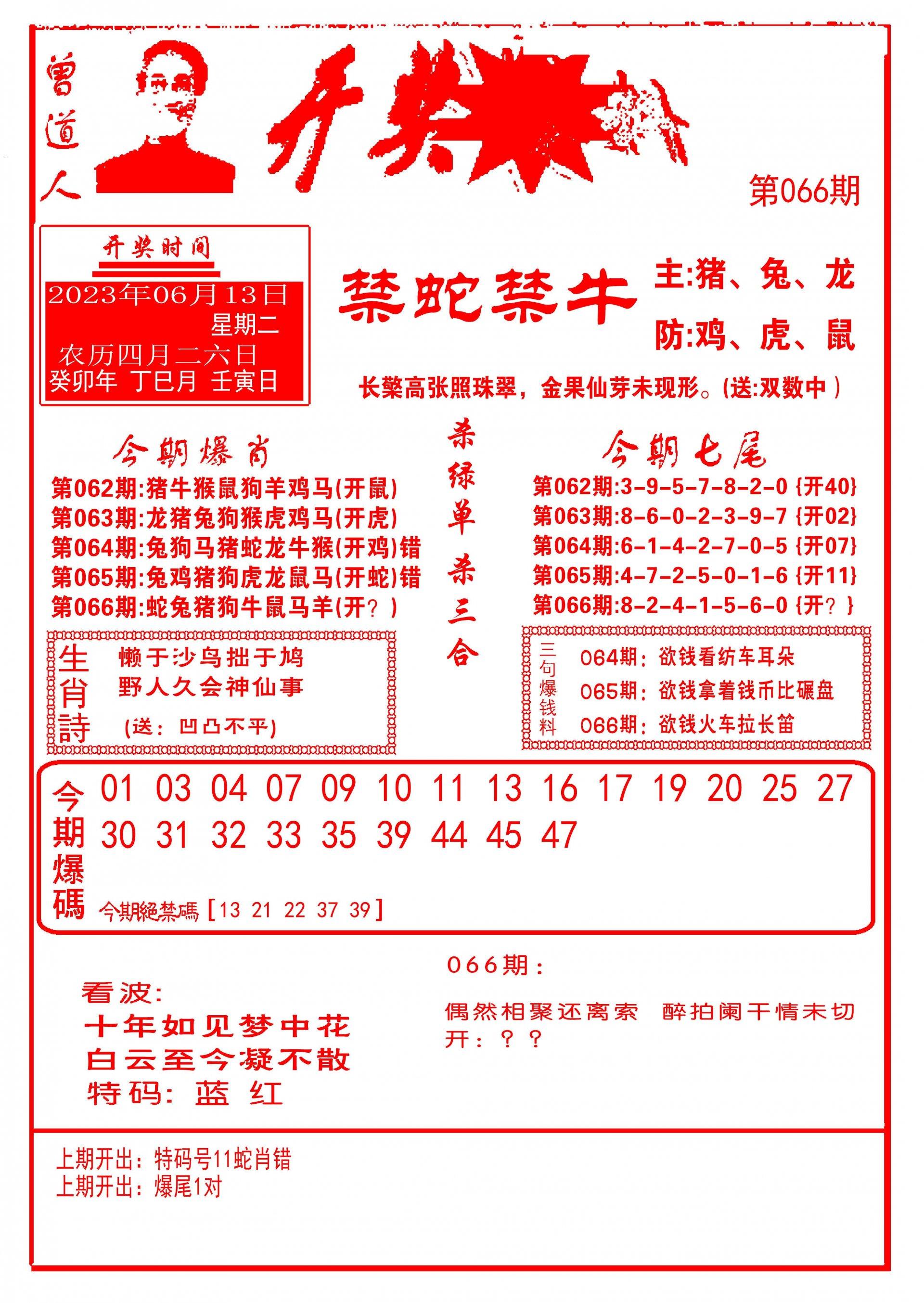 066期开奖爆料(新图推荐)