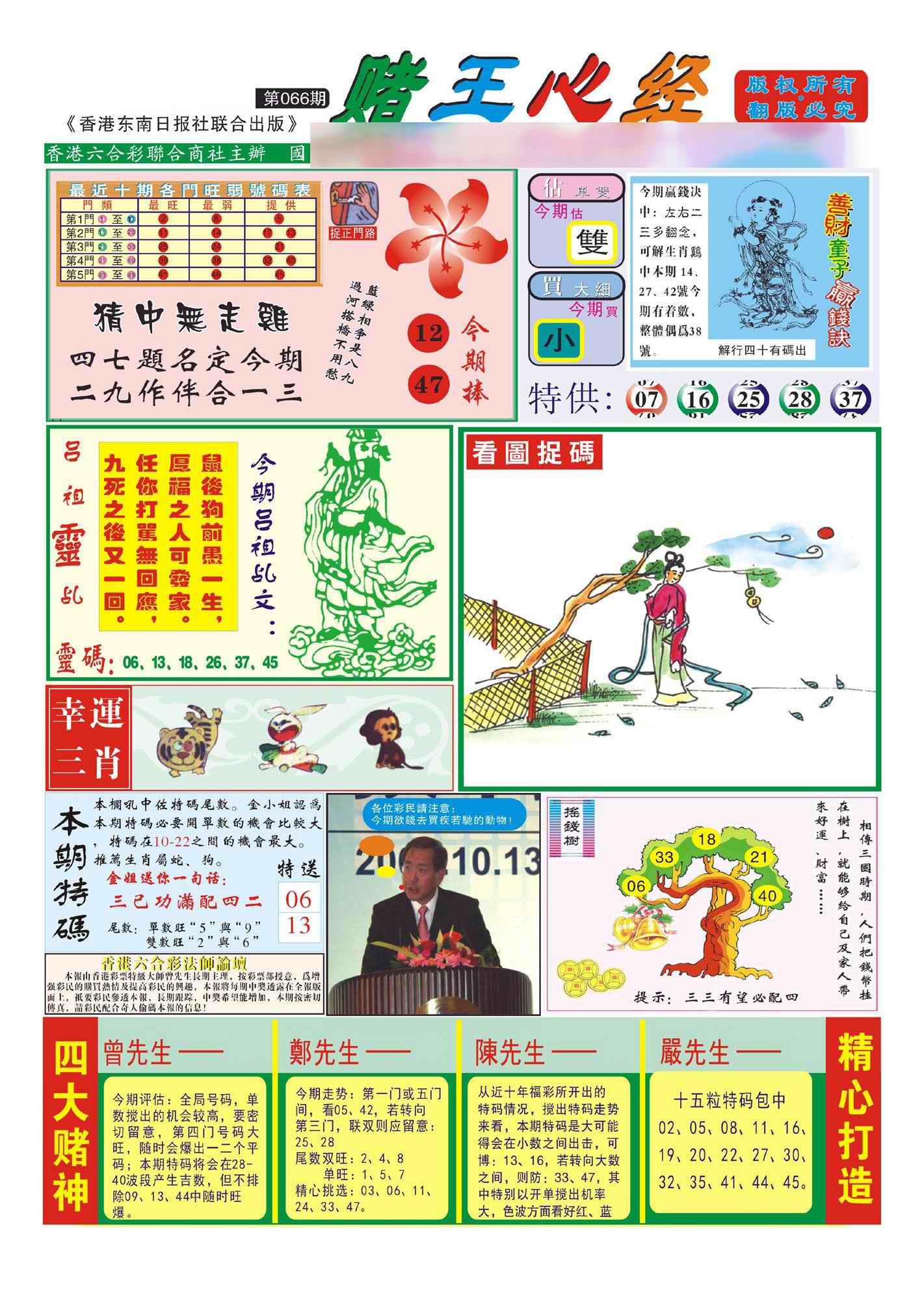 066期香港赌王心经(新图)