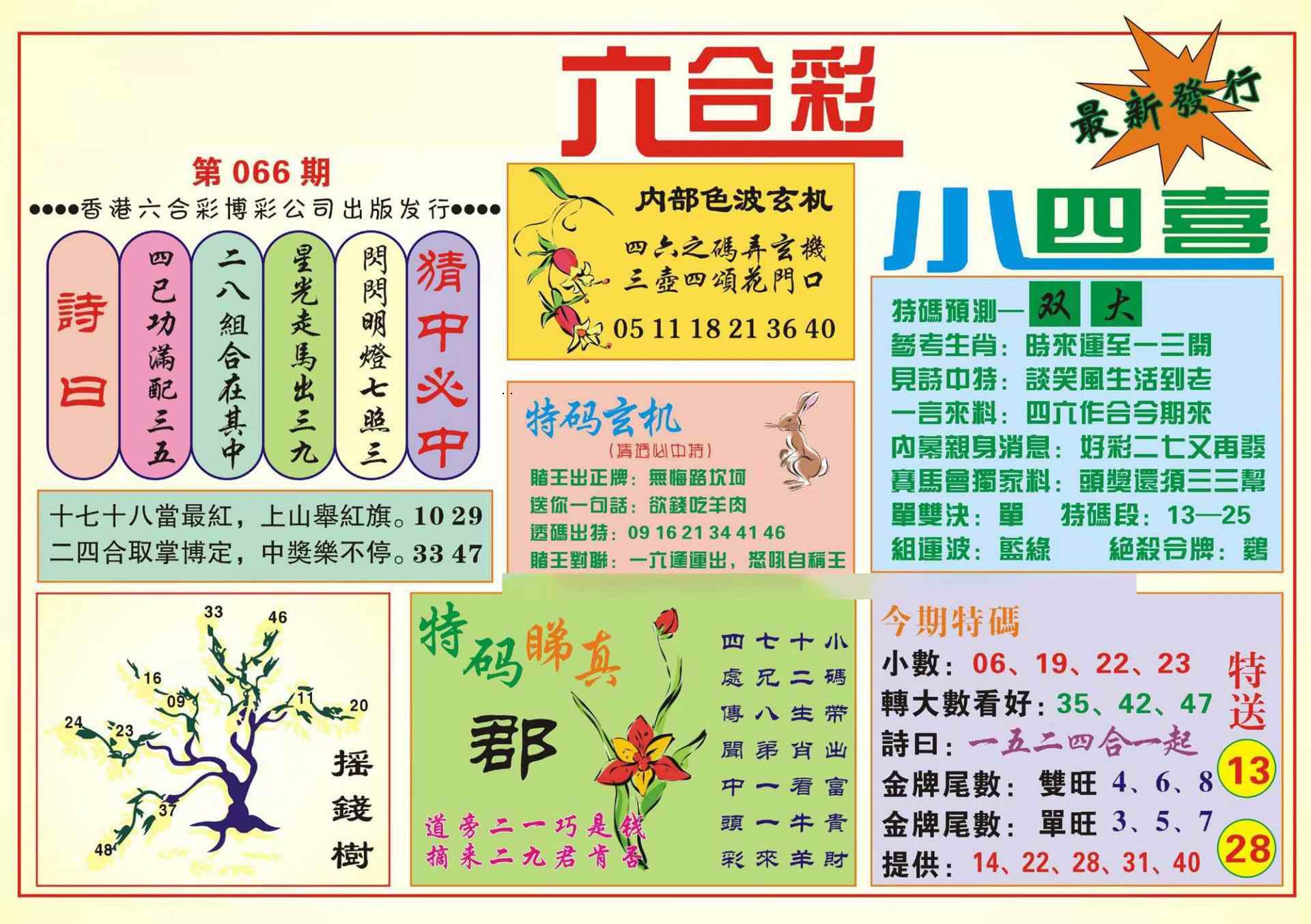 066期香港小四喜(新图)
