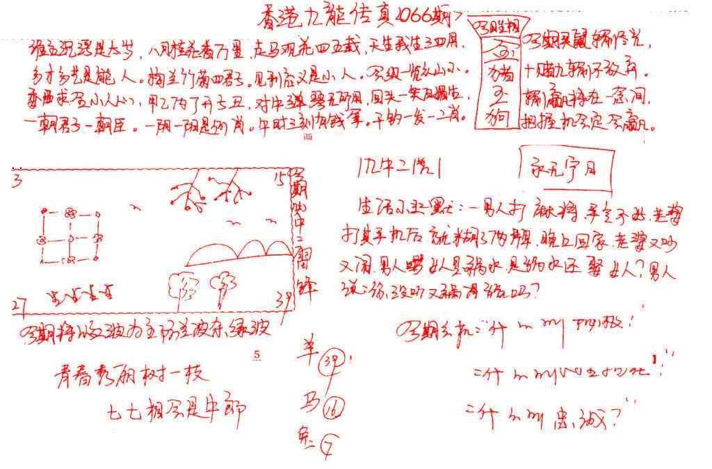 066期九龙传真(手写)
