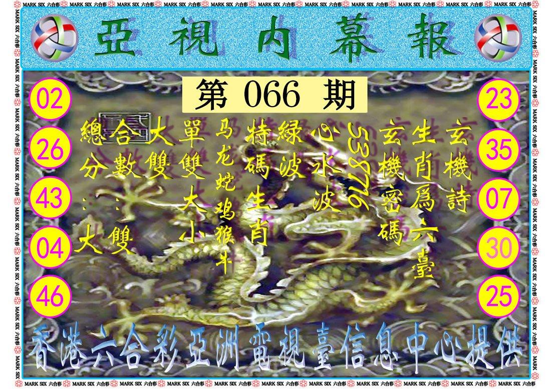 066期亚视内幕报