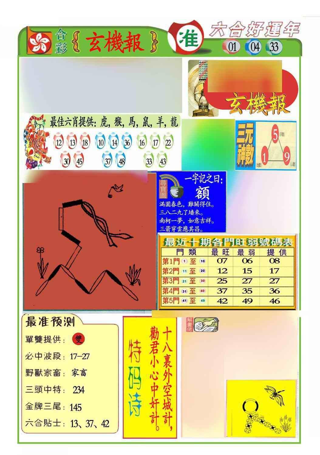 066期马经玄机报(新图推荐)