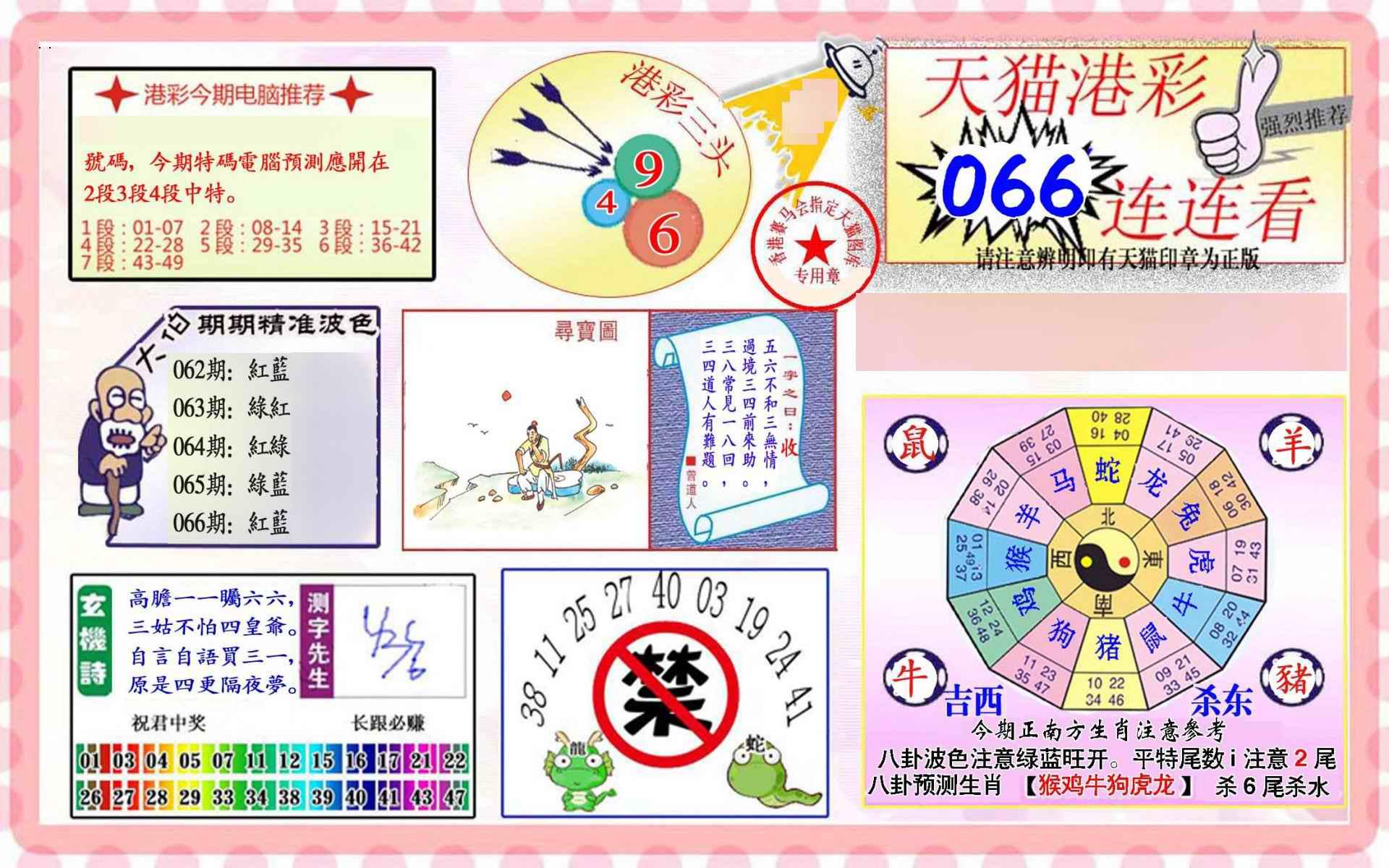 066期港彩连连中
