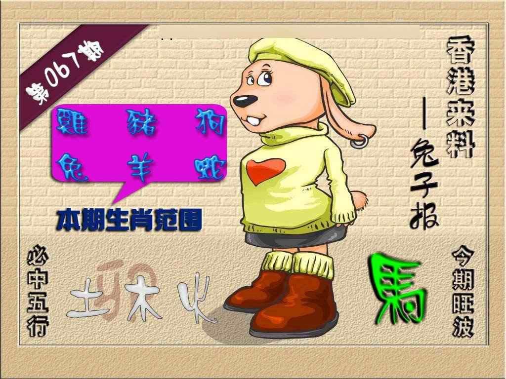 067期(香港来料)兔报