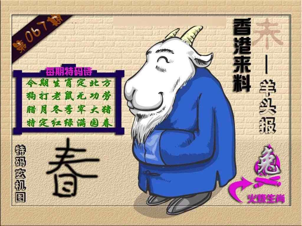 067期(香港来料)羊报