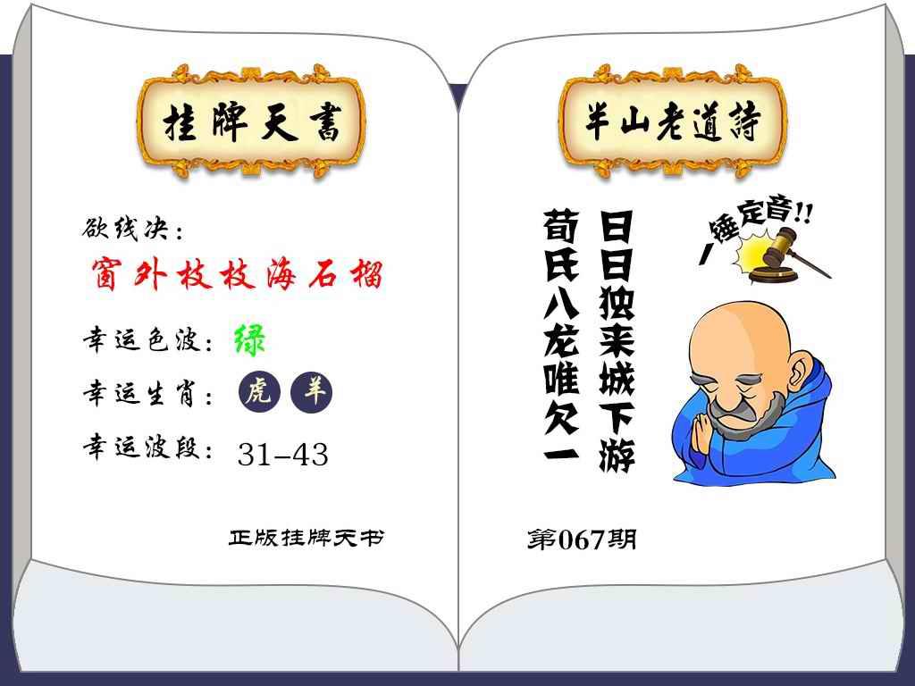 067期挂牌天书(新图)
