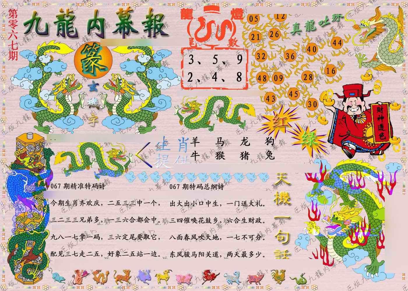 067期正版九龙内幕报