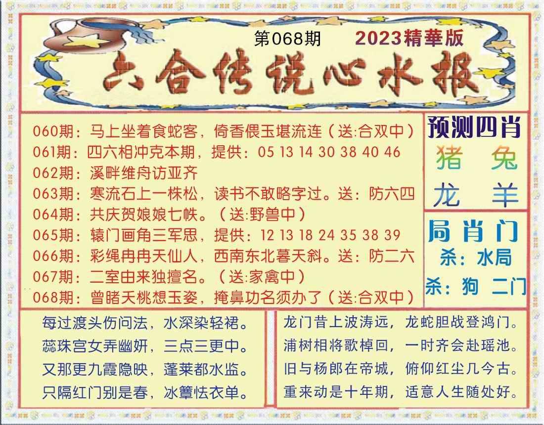 068期六合传说(玄机版)