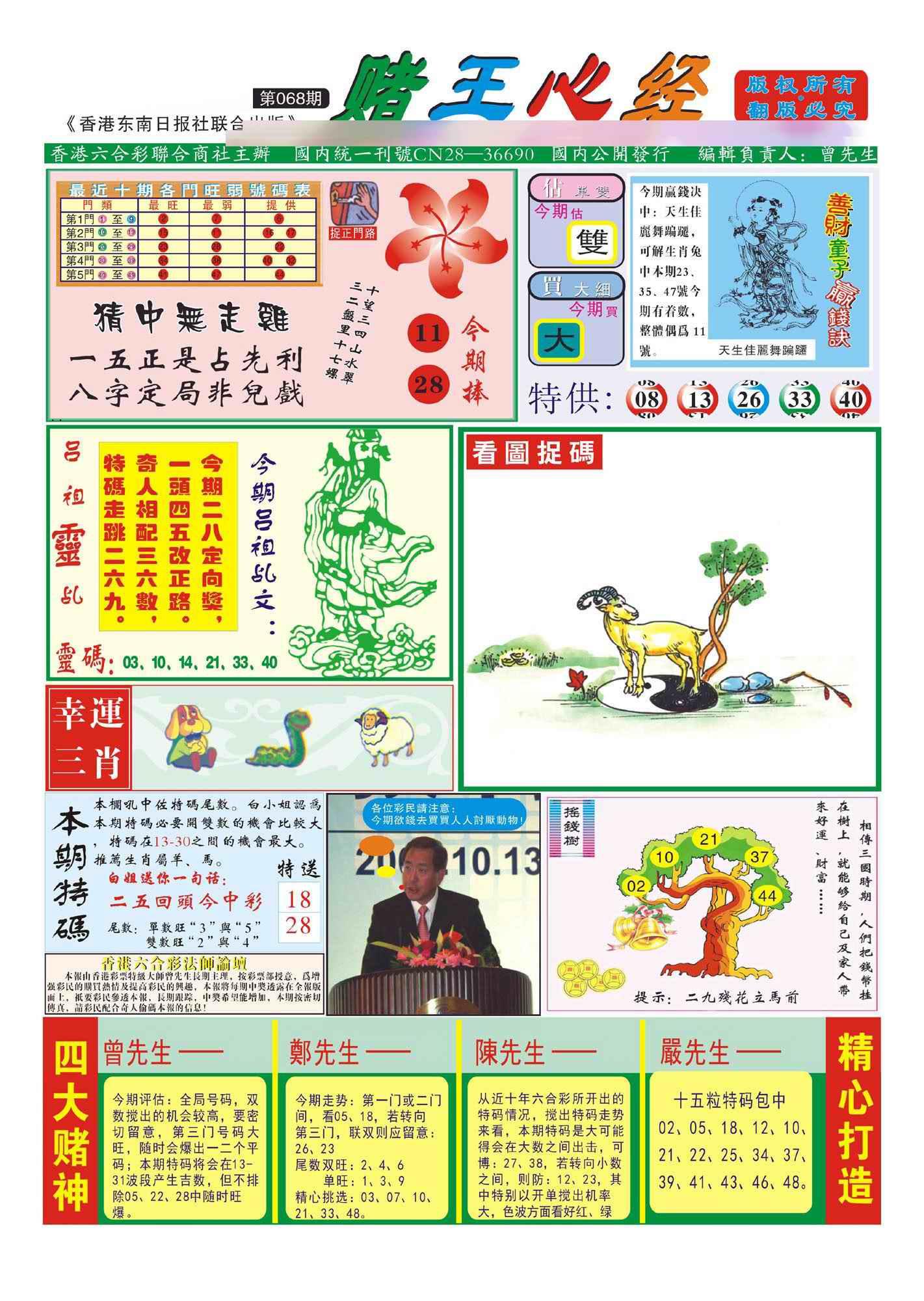 068期香港赌王心经(新图)