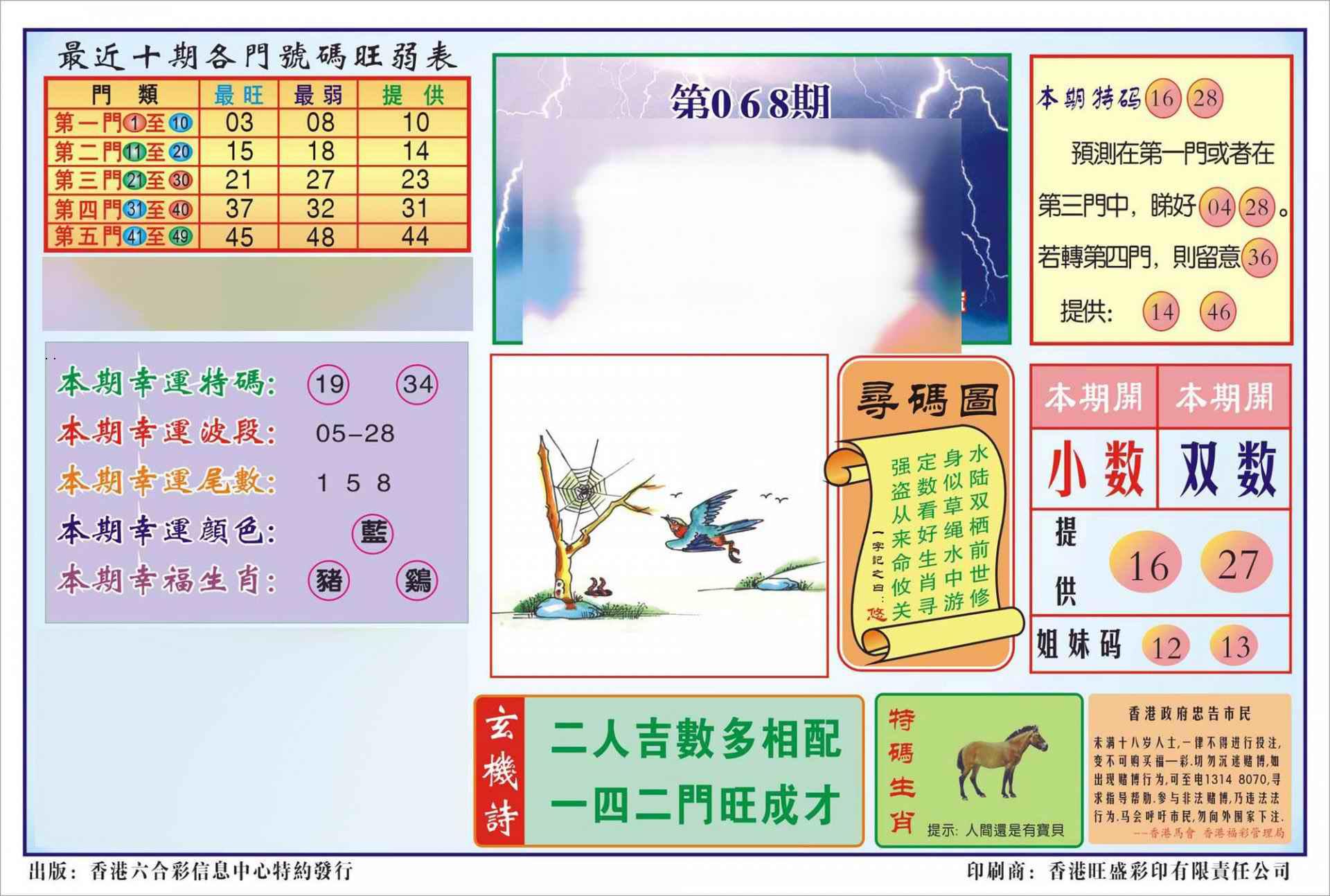 068期香港逢赌必羸(新图)