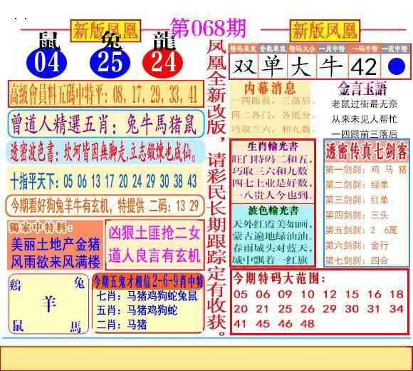 068期二代凤凰报