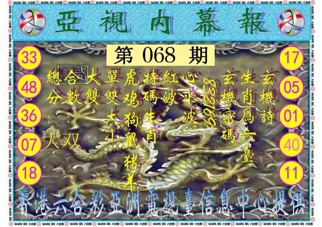 068期亚视内幕报