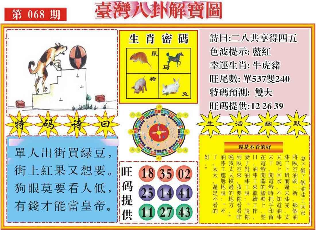 068期台湾八卦解宝图