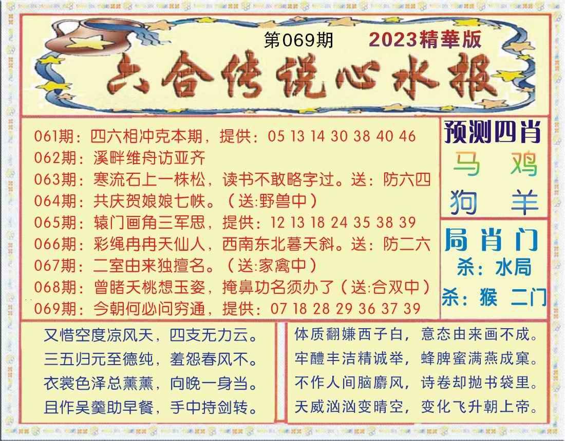 069期六合传说(玄机版)