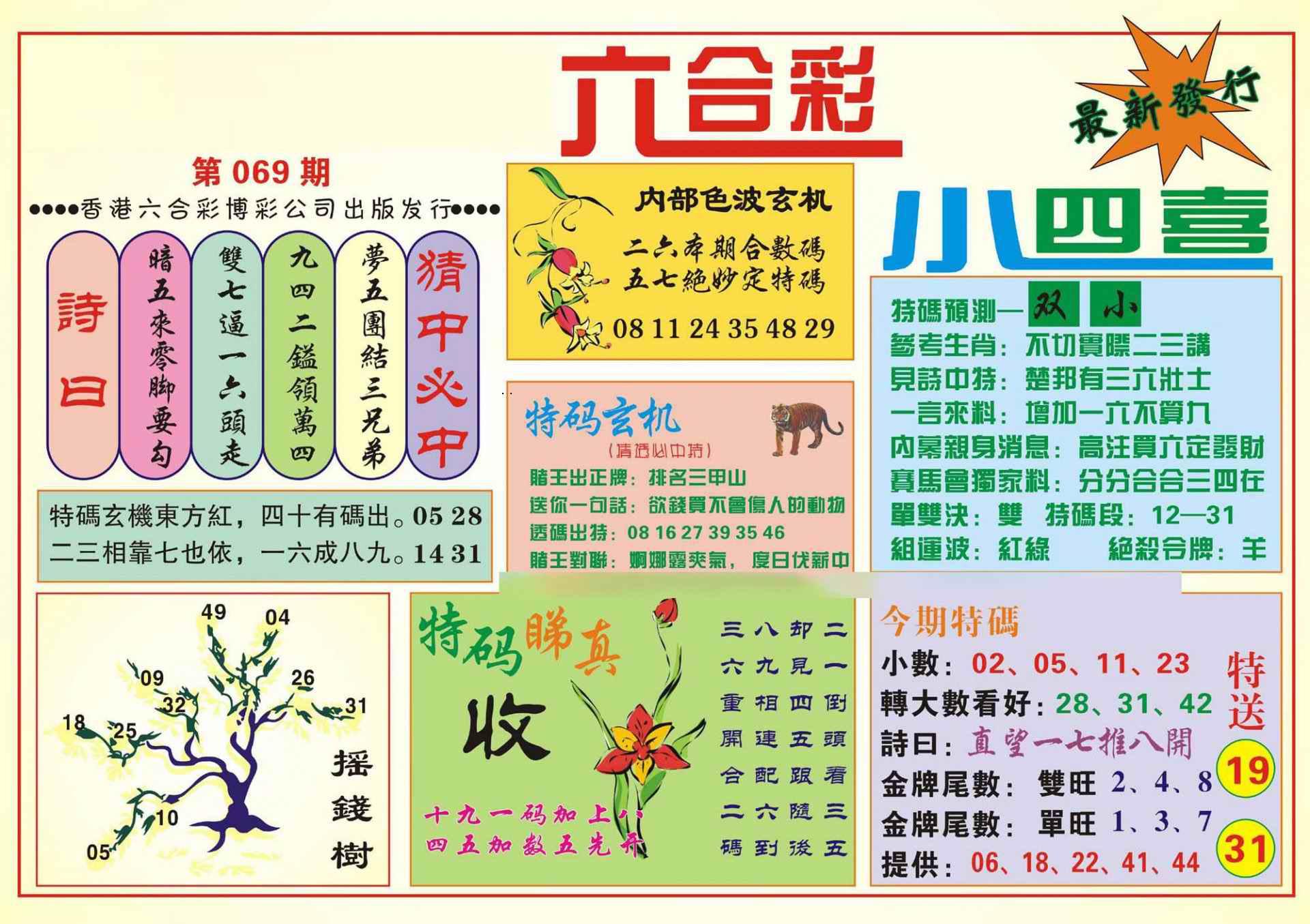 069期香港小四喜(新图)