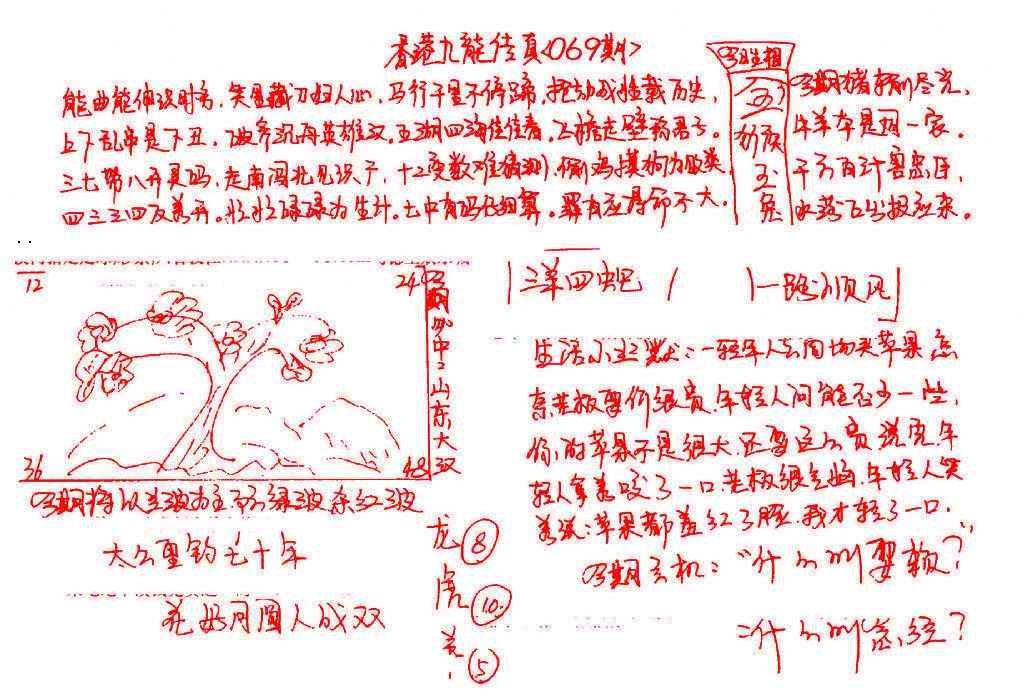 069期九龙传真(手写)