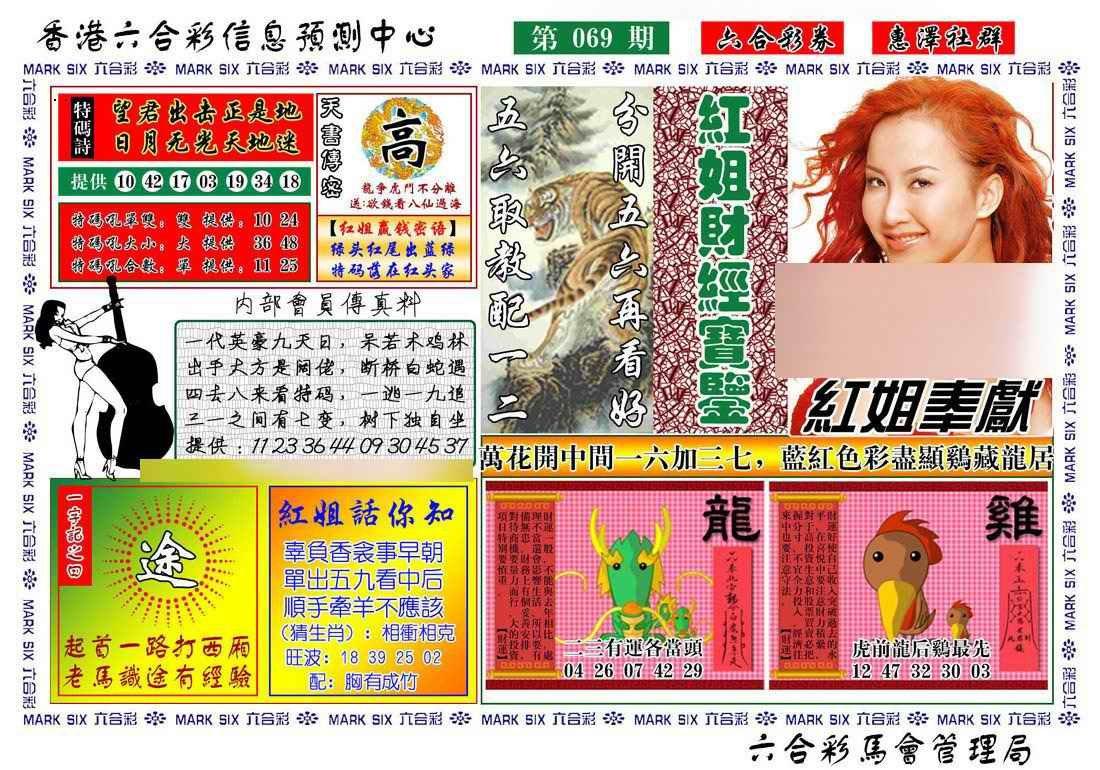 069期红姐财经宝鉴