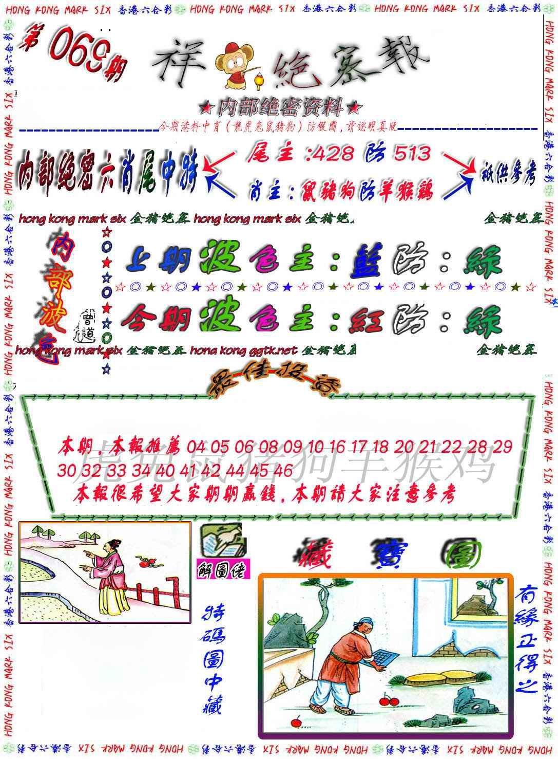 069期金鼠绝密图