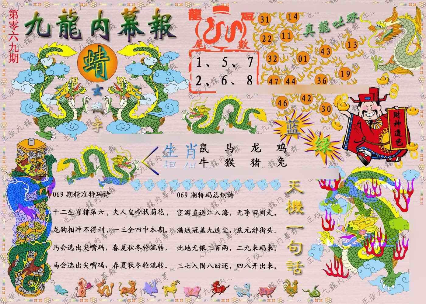 069期正版九龙内幕报
