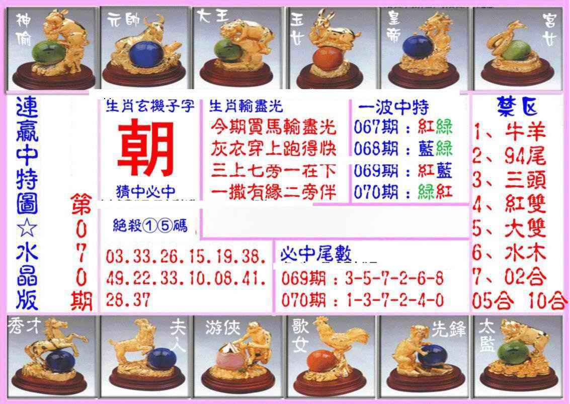 070期连赢中特图(水晶版)