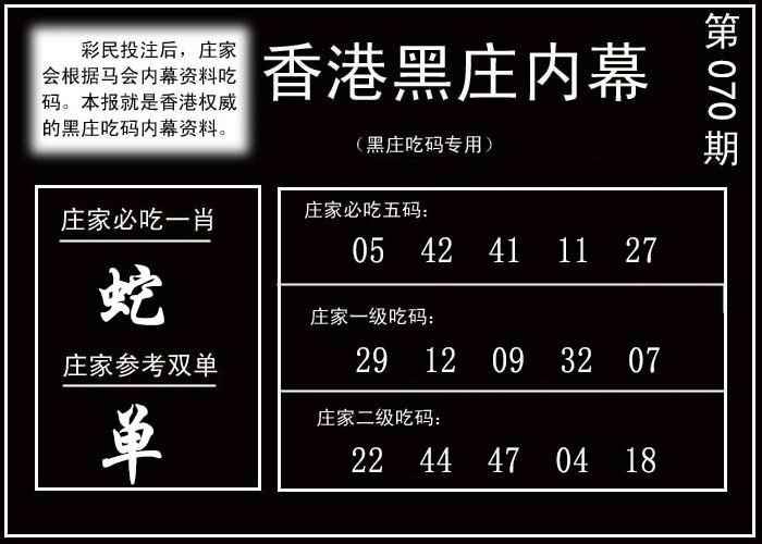070期香港黑庄内幕