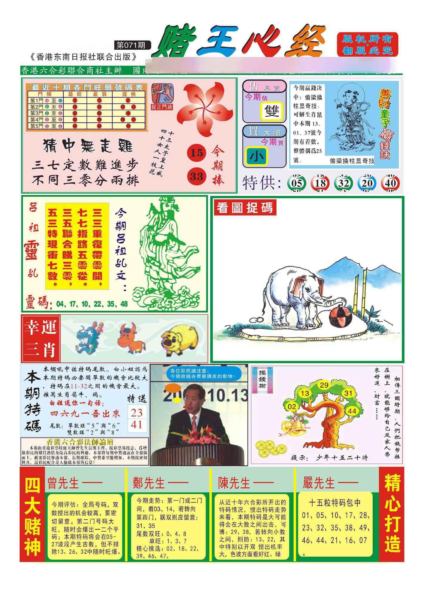 071期香港赌王心经(新图)