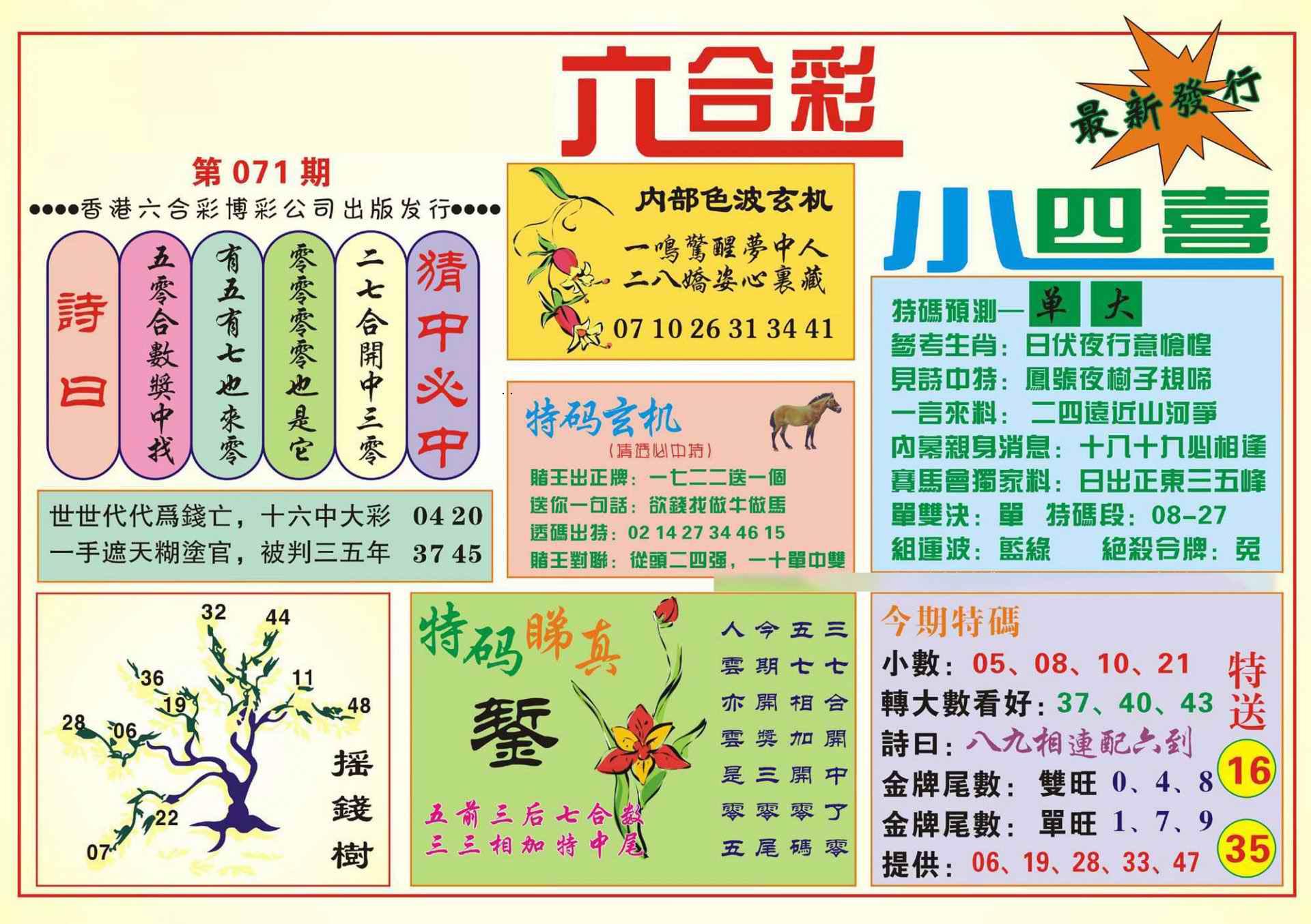 071期香港小四喜(新图)