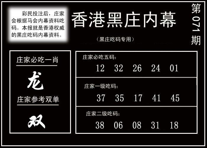 071期香港黑庄内幕