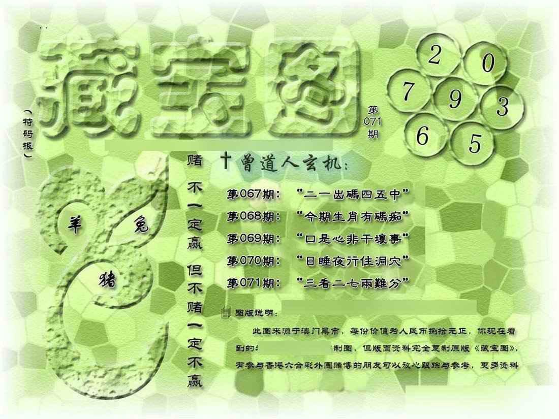 071期假新藏宝图