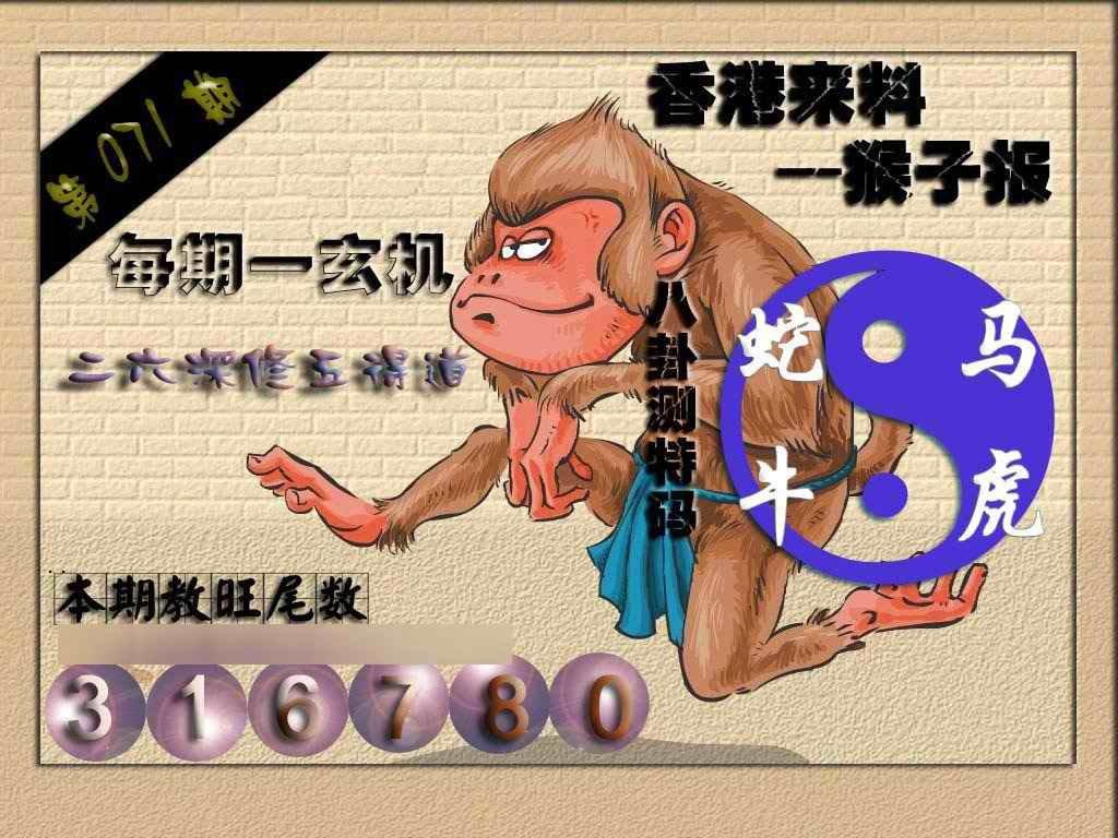 071期(香港来料)猴报