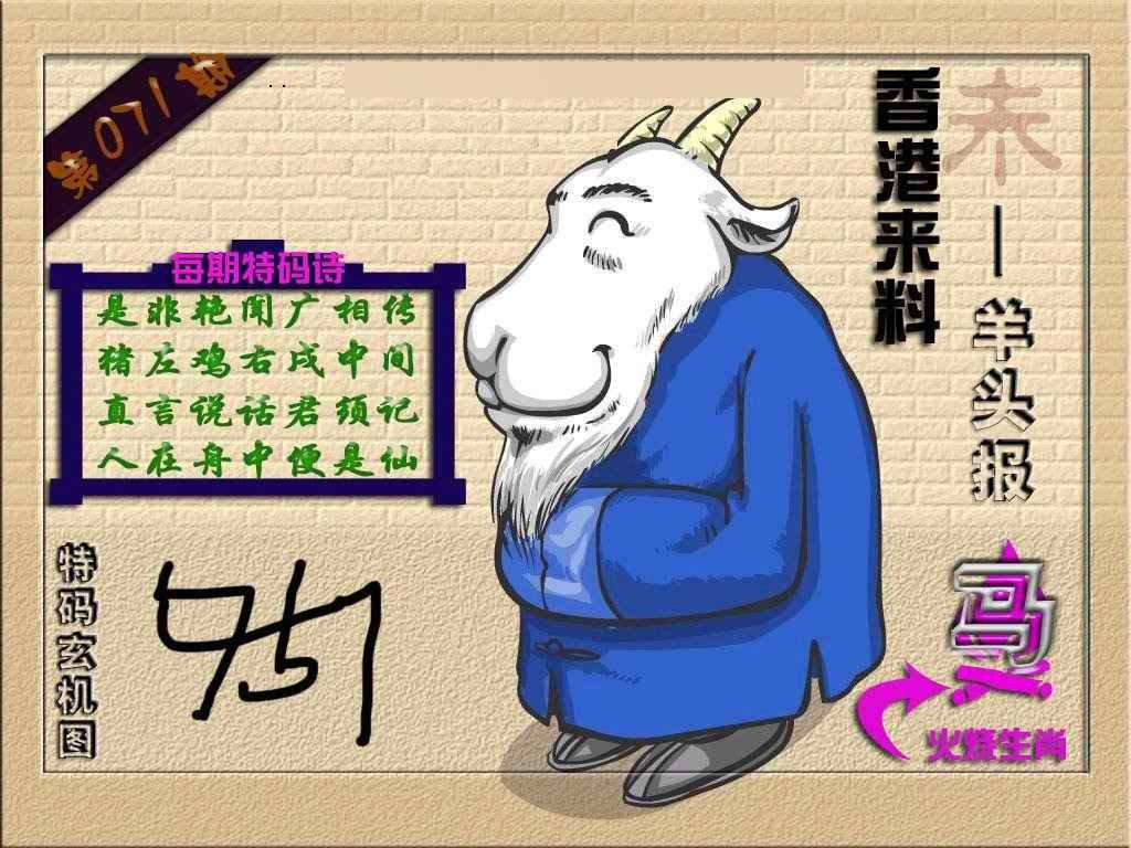071期(香港来料)羊报