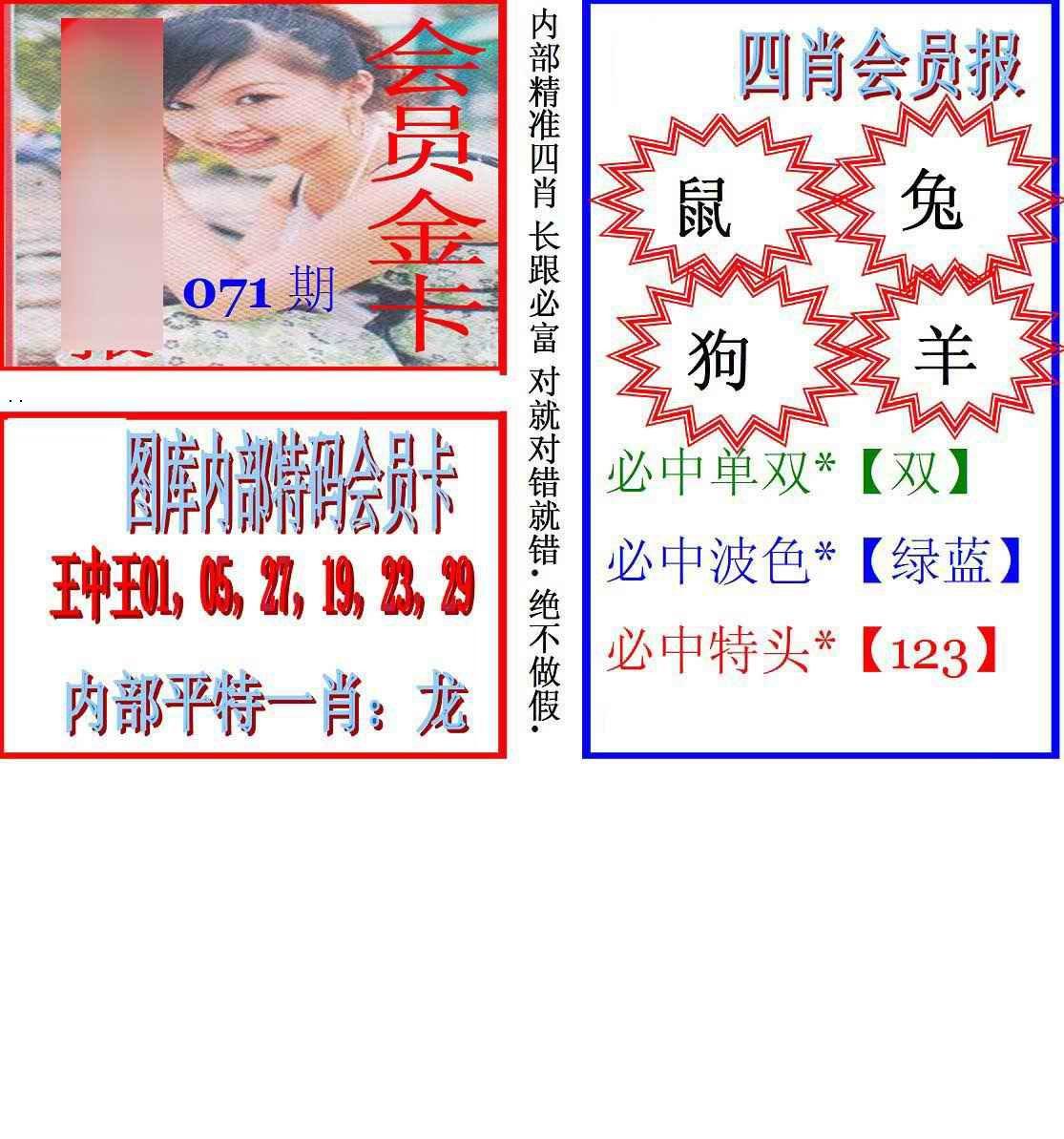 071期马经四肖会员报(新图)