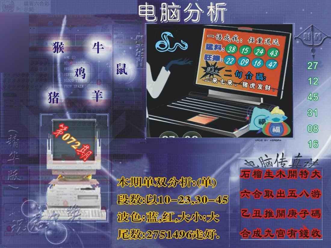072期正版电脑分析贴士