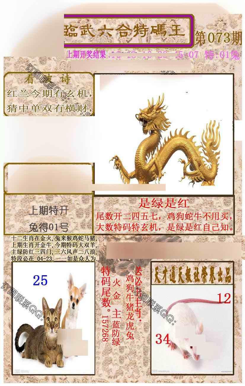 073期临武六合特码王